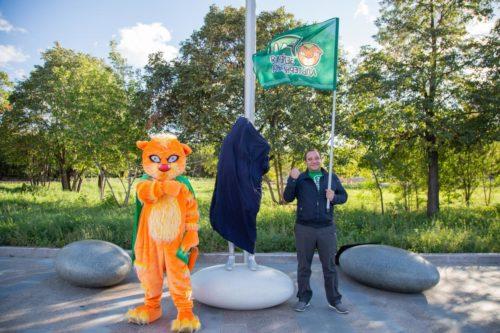 Открытие памятника Грете Тунберг в Челябинске 6