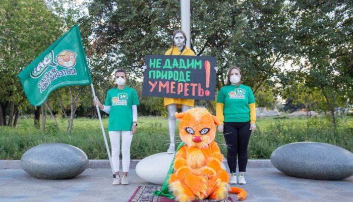 Открытие памятника Грете Тунберг в Челябинске 40