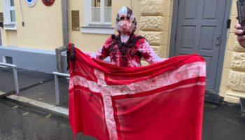 «Зелёная Альтернатива» провела акцию против убийства 12 млн норок у посольства Дании 117