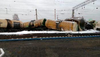 Разлив нефтепродуктов на ж/д станции в Новосибирской области 116