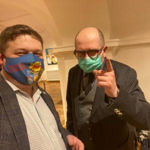 Открытие новой выставки Васи Ложкина «Изыди, вирус окаянный!» 6