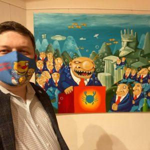 Открытие новой выставки Васи Ложкина «Изыди, вирус окаянный!» 7