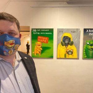 Открытие новой выставки Васи Ложкина «Изыди, вирус окаянный!» 9